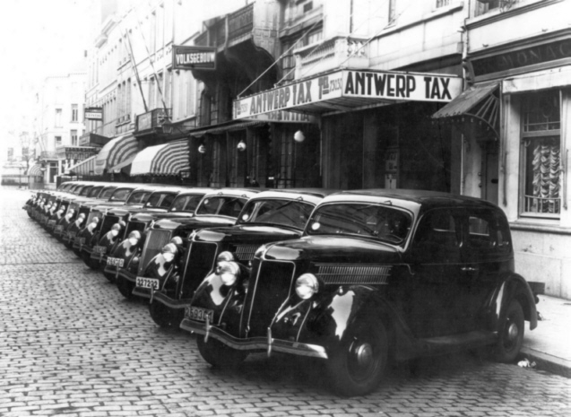 Ford V8 Taxen in Antwerpen